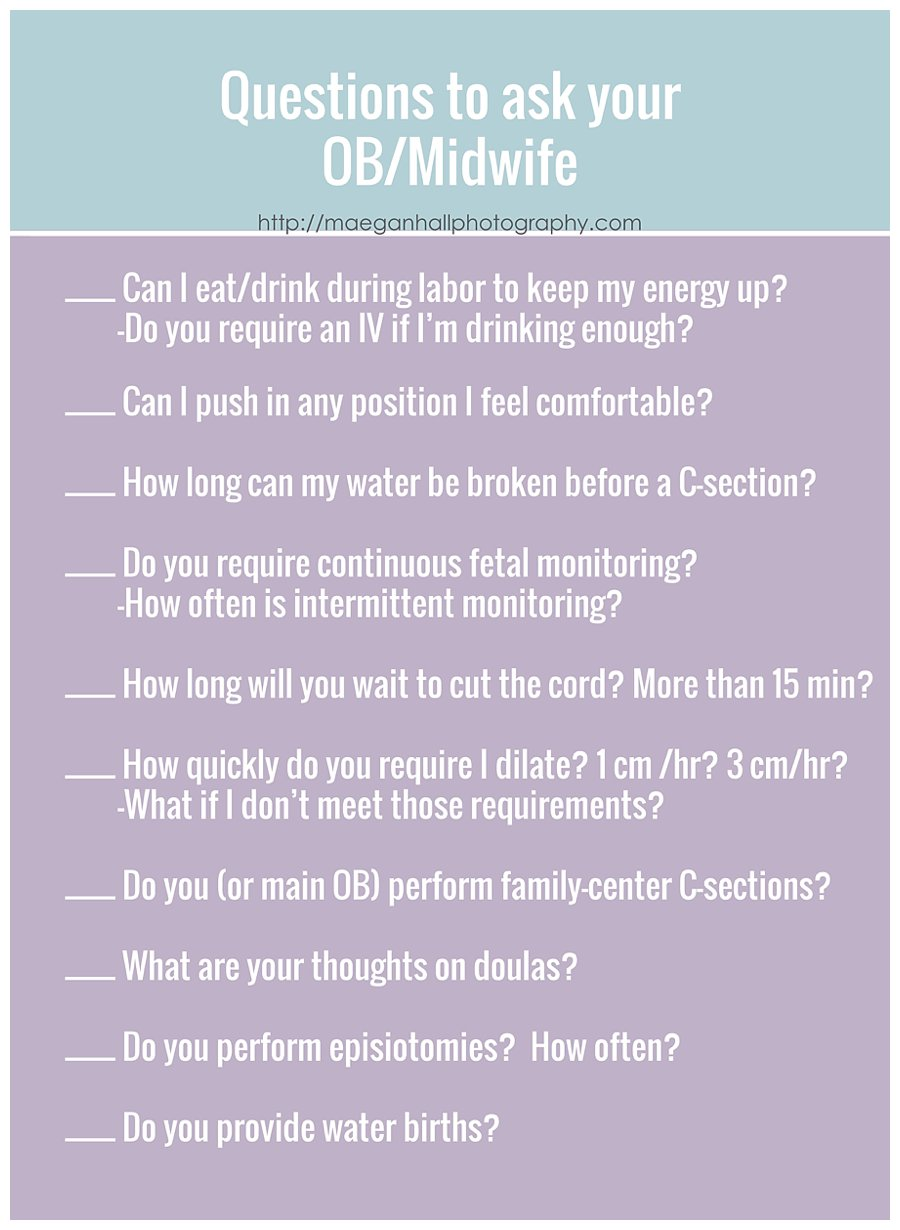 Important Questions to Ask your Dr or Midwife When you're ...